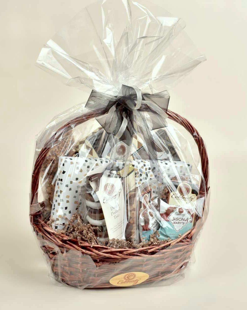 Rattan Cookie Gift Basket