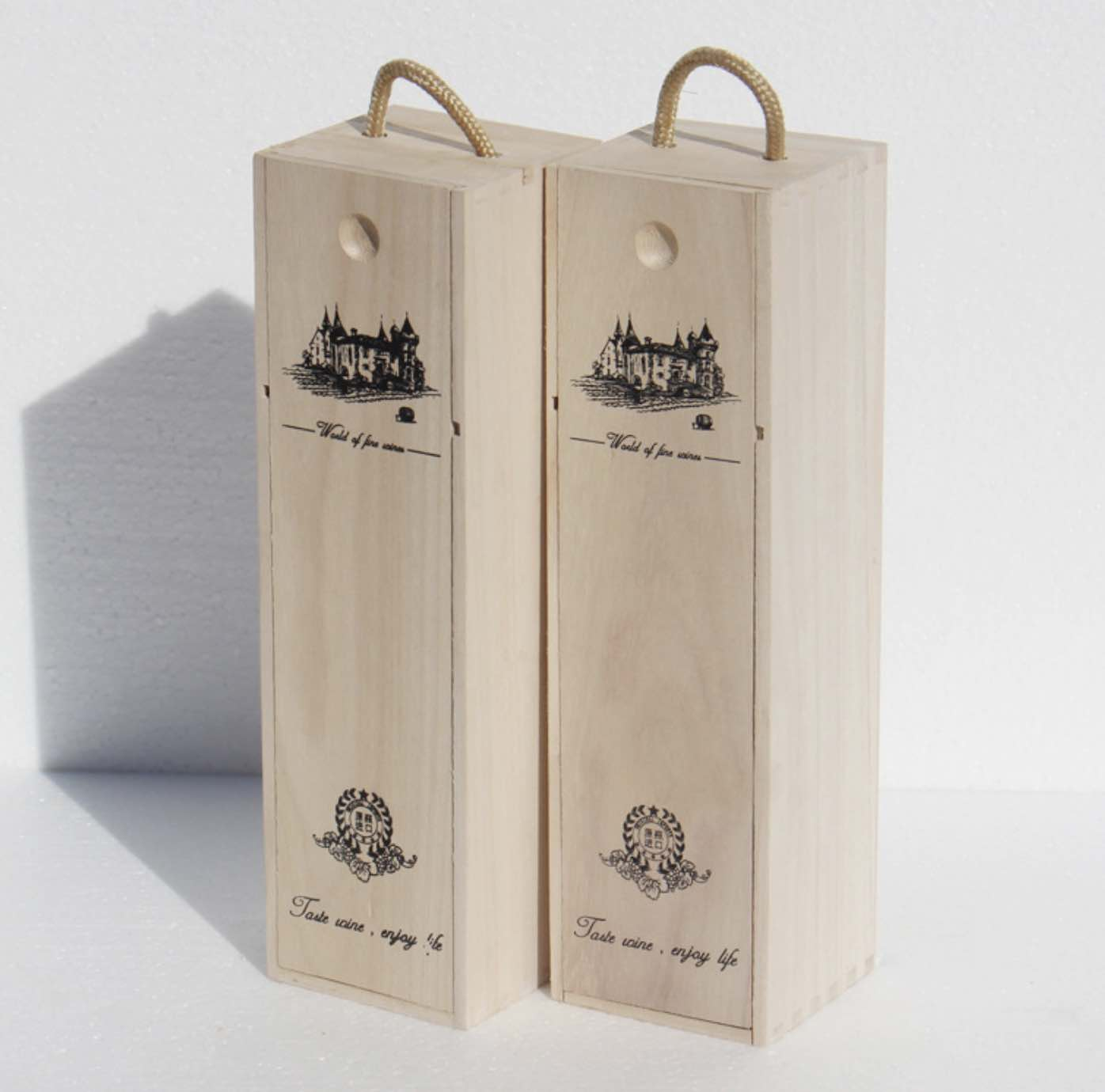 Two Wooden Wine Box