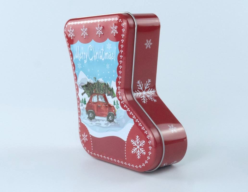 Belpax Christmas Style Shoe-Shape Tin