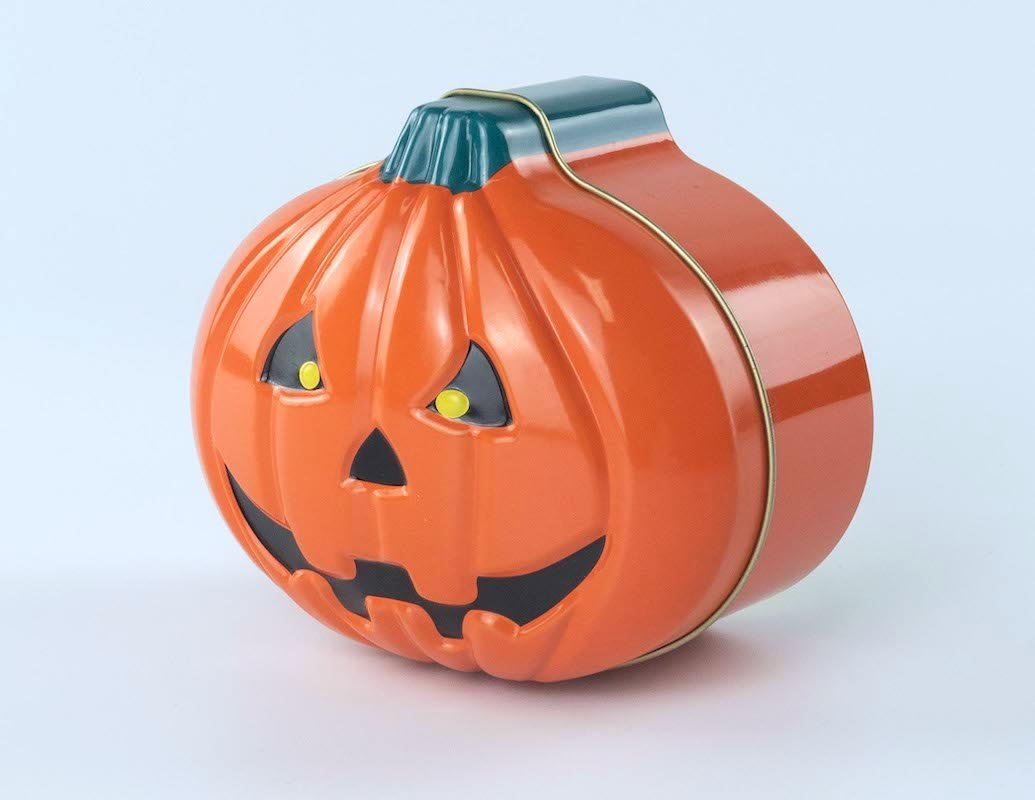 Pumpkin-Shaped Tin