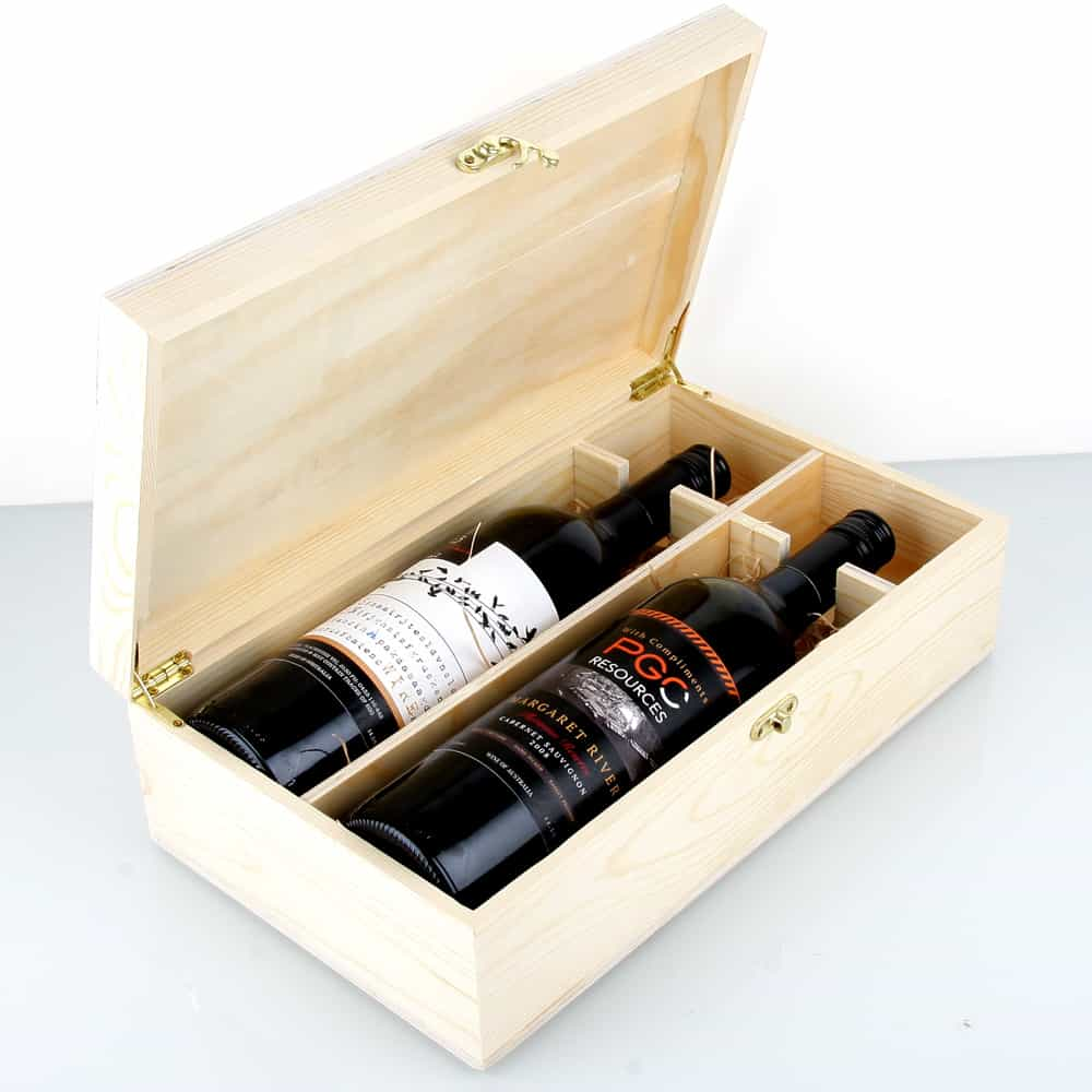 Double Bottle Wooden Wine Box