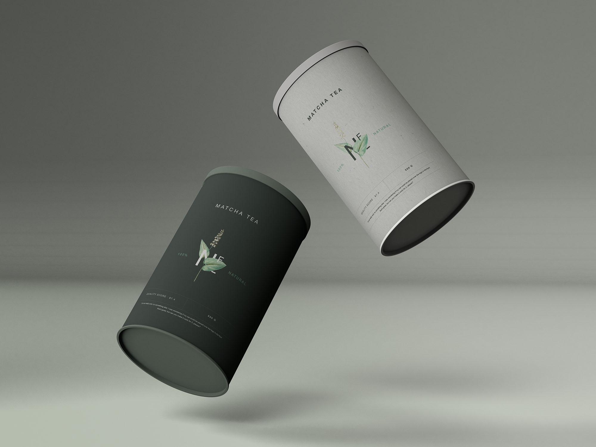 Two tea tins